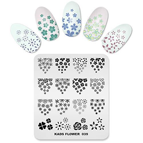 KADS Nagel Stamping Platte Blume Nail art Stempel Vorlage DIY Bild Vorlage Maniküre Stamp Platte Schablone Werkzeuge