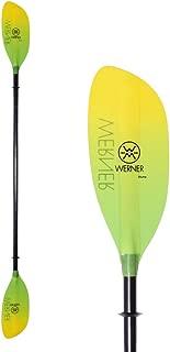 Werner Shuna Fiberglass Straight Shaft Kayak Paddle-GradientCitrus-210cm