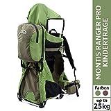 Montis Ranger Pro Kraxe Kindertrage mit Allen Extras bis 25kg Gewicht - für beide Elternteile inkl....