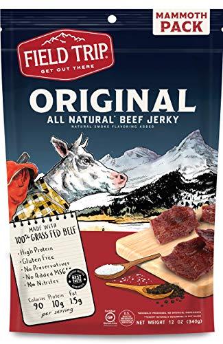 Field Trip Gluten Free, High Protein, Original Beef Jerky, 12oz Bulk Bag