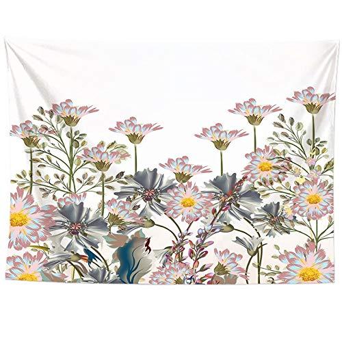WERT Tapiz de Flores Colgante de Pared Estera de Playa Bohemia Manta de poliéster Fondo de impresión HD Decoración del hogar Dormitorio Arte Alfombra A4 95x73cm