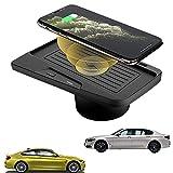 Paobiy Para BMW Serie 3 2016-2018 M3 BMW 4 Series 2018-2020 M4 Cargador inalámbrico de coche panel de accesorios de consola central, 10 W Qi carga rápida cargador de teléfono pad para iPhone y Samsung