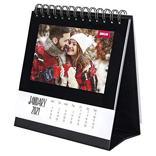 Shot2go 2021 Desktop Photo Calendar Black - Holds 12 4x6