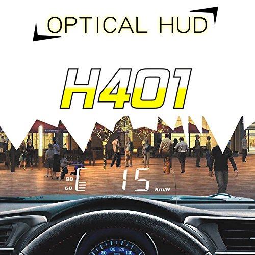 flower205 ActiSafety DC12V 3.7 pouces HD voiture tête tête affichage automatique sensible à la lumière HUD pliage tête haute affichage LED HD projecteur conduite ordinateur HUD H401