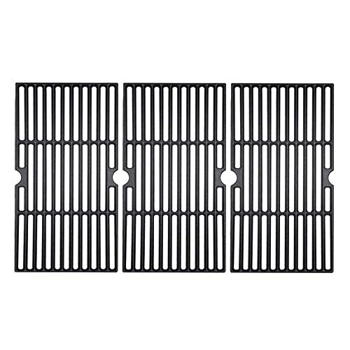 BBQ funland 17 3/4 Inch Porcelain Coated Cast Iron Cooking Grid Replacement Grates for Brinkmann and Charmglow Gas Grill, Set of 3