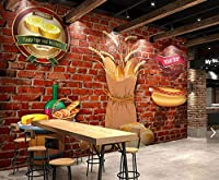 写真の壁紙3D壁画ベーカリーレトロレンガ壁そば背景壁現代のHdポスター大きな壁のステッカーツーリング壁アート装飾壁の装飾-78.8x55.1inch