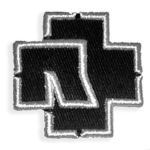 Rammstein Aufnäher Patch schwarz Logo 7,5 x 7,5cm, Offizielles Band Merchandise