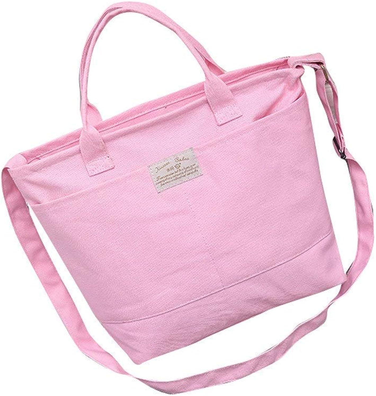 795423e04 Bloomerang Fashion Women Casual Simple Canvas Handbag and Shoulder Bag  Crossbody Shoulder Ladies Messenger Bag for Women color Pink Tote  ntrowx4255-Sporting ...