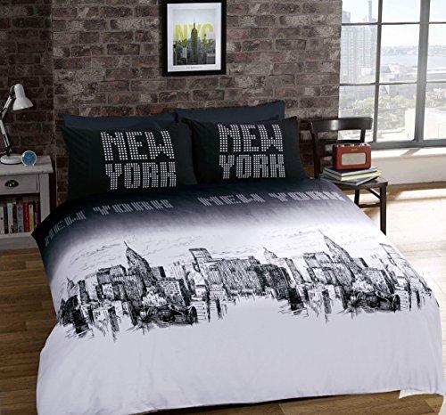Set copripiumino, modello New York, Policotone, multicolour, King 230cm x 220cm