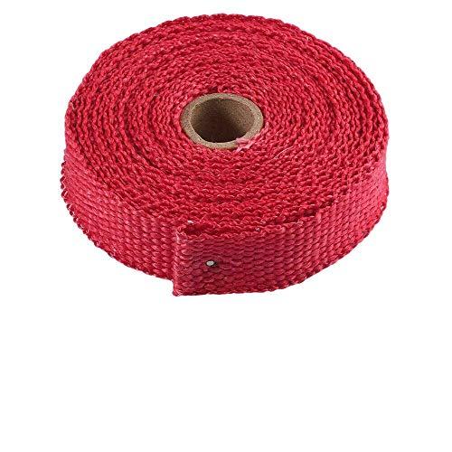 Global Accessories milliards Rouge de Super Thermo-Wrap tec 70 échappement Bandage Isolant