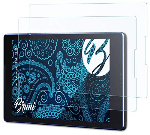 Bruni Schutzfolie kompatibel mit Lenovo Tab 3 8 Folie, glasklare Bildschirmschutzfolie (2X)