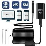 Wireless Endoscope Camera USB, Satkago WiFi Borescope Inspection Camera 2.0 Megapixels HD Waterproof