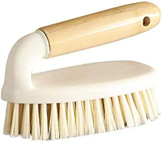 BXKEJI Bamboo Handle Cleaning Brushes Hand Held Household Cleaning Brush Bathroom Bathtub Flow Table Floor Tile Shoes