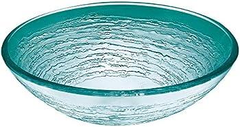 Hembry Creek Swirl Vessel Sink in Frosted Glass