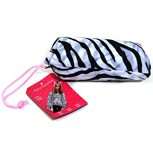 Zebra Fancy Dress Poncho