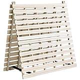 タンスのゲン すのこ ベッド シングル 折りたたみ 二つ折り ベッドフレーム 二つ折りタイプ すのこベッド 天然桐 シングルベッド AM 000078 【51280】