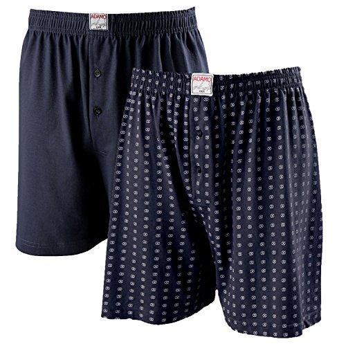 ADAMO Boxershort   Herren Boxershorts I Männer Shorts   Boxershorts Men   Shorts Herren I Herrenunterwäsche I 100% Baumwolle 2er Pack in Übergrößen 8-20 / XXL-8XL, Größe:9XL, Farbe:360 Dunkelblau