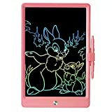LCD Writing Board, 11 Inch Color Electronic Writing Tablet Drawing Board Portable eWriter Doodle Board Digital Tablet Drawing Board Writing Pad for Kids and Adults - Pink