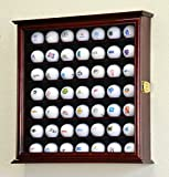 49 Golf Ball Display Case Cabinet Wall Rack Holder w/98% UV Protection Lockable -Cherry