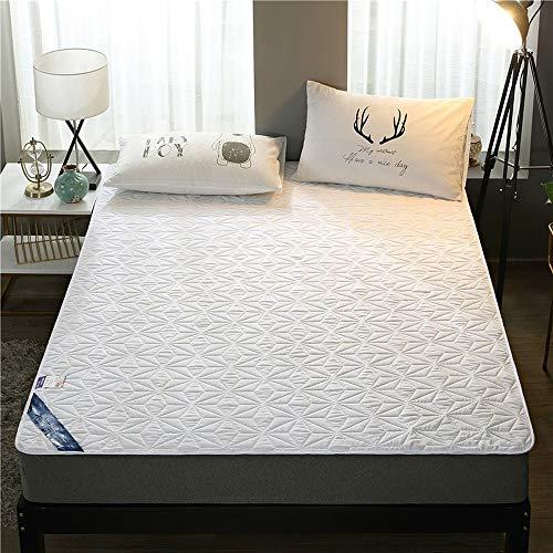 ABUKJM Funda de colchón impermeable, con banda elástica, antiácaros, protector de colchón impermeable, para colchón de cama, 90 x 200 cm, color blanco