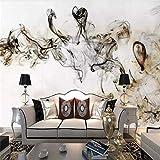 DZBHSCL 4D Tapeten Wandbilder,Kreative Chinesische Tinte Rauch Hd Kunstdruck Größe Fototapete Für Zu Hause Wohnzimmer Sofa Tv Hintergrund Wand Dekor, 112 × 184, 280 cm (H) X 460 cm (W)...