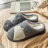 direction Zapatos de Piscina,Zapatillas de algodón de Punta Gruesa Pareja hogar hogar Felpa algodón otoño Invierno-In One_42-43#,Zapatos Minimalistas