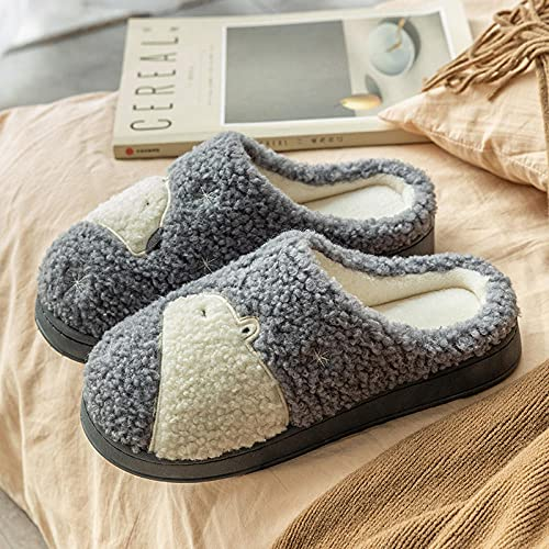 Unisex,Pantofole in Cotone con estremità Spessa Coppia casa casa Peluche Cotone Autunno Inverno-in One_38-39#,Pantofole da Esterno