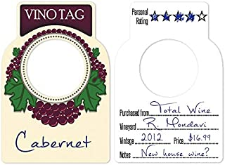 Vino Tag Two Sided Wine Tags 50 Count