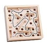 Toyvian Holz Magnetische Maze Spielzeug Wandspiel Maze Puzzle Perlen Brettspiel Labyrinth Puzzle Spiel für Kinder Erwachsene -