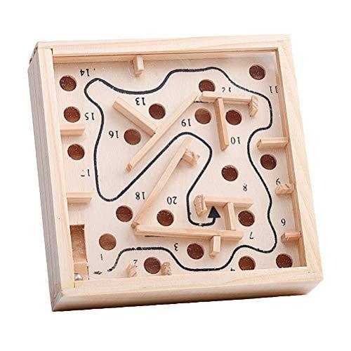 Toyvian Holz Magnetische Maze Spielzeug Wandspiel Maze Puzzle Perlen Brettspiel Labyrinth Puzzle Spiel für Kinder Erwachsene