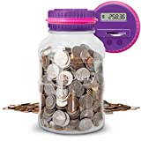 Discovery Kids Digital Coin-Counting Money Jar with LCD Screen, Purple (Office Product)