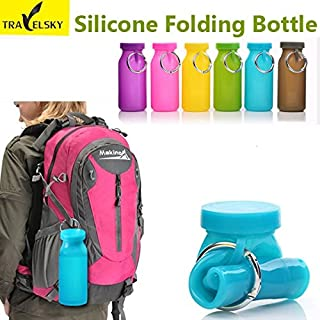 Calli TRAVELSKY Outdoor Colorful Silicone Folding Bottle Cup Camping Hiking Riding Bottles