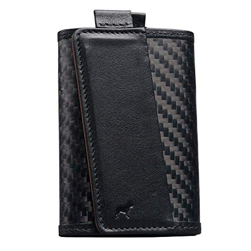 The Frenchie Co. Carbon Fiber Ultra Slim Speed Wallet for Men with RFID Blocking and Super Fast Card Holder Access | 12 Cards