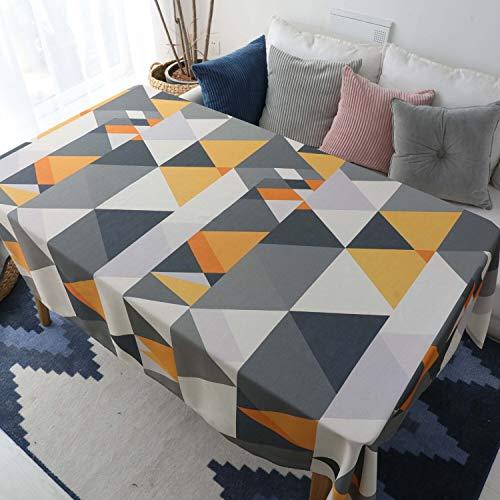 XXDD Mantel nórdico de Cocina para Restaurante, Mantel de impresión geométrica a Prueba de Aceite, Cubierta de Mesa de Defensa artística para Restaurante A3 150x210cm
