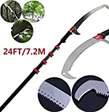 YQ&<span class='highlight'><span class='highlight'>TL</span></span> Telescopic Pole Saw 5.4-7.2m Extendable Telescopic Landscaping Pole Saw for Pruning and Trimming Branches and Leaves Extendable Limb Saw B