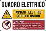quadro elettrico impianti elettrici sotto tensione e vietato....