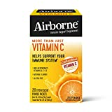 Vitamin C 1000mg (per Serving) - Airborne Zesty Orange Effervescent Powder Packs (20 Count in Box), Gluten-Free Immune Support Supplement with Vitamins A C E, ZINC, Selenium, Echinacea & Ginger