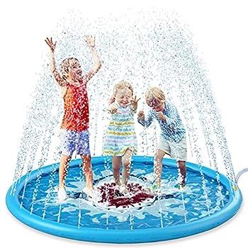 Jasonwell Splash Pad Sprinkler for Kids 68  Splash Play Mat Outdoor Water Toys Inflatable Splash Pad Baby Toddler Pool Boys Girls Children Outside Backyard Dog Sprinkler Pool for Age 3 4 5 6 7 8 9 10