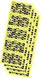 Desconocido 540 Cartones de Bingo troquelados Color Amarillo
