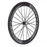 VCYCLE Nopea Fibre de Carbone Vélo de Course Route Roues 60mm Clincher Pneu Largeur 23mm Shimano ou Sram 8/9/10/11 Vitesse (Roue Arrière)