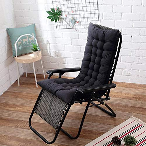 Eogrokerr Cojín de respaldo suave, cojín para tumbona, cojín para silla mecedora para tumbona, columpio, interior (17,48 x 125 cm)