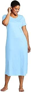 Lands' End Women's Plus Size Midcalf Supima Cotton Nightgown