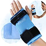 REVIX Wrist Ice Wrap for Carpal Tunnel and Hand Pain Relief, Reusable Ice Pack for Injuries from Cold Compress Therapy, Refreezable Gel Brace, 1 Pack