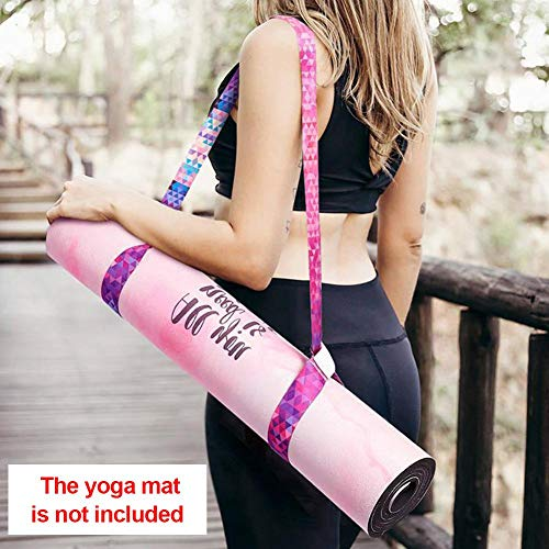 Biteatey - Esterilla elástica para esterilla de yoga, ajustable, 2 en 1 – Tirantes y correas elásticas, textura suave y duradera [mate no incluida]