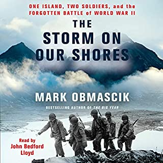 The Storm on Our Shores     One Island, Two Soldiers, and the Forgotten Battle of World War II              Written by:                                                                                                                                 Mark Obmascik                               Narrated by:                                                                                                                                 John Bedford Lloyd                      Length: 9 hrs and 2 mins     Not rated yet     Overall 0.0