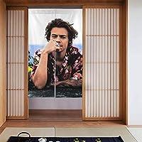 ドアカーテン, Harry Styles ハリー・スタイルズ 遮熱 カーテン おしゃれ 和風 断熱 仕切りカーテン 部屋仕切り 玄関 キッチン リビング 飲食店 出入り口 幅86㎝x丈143㎝