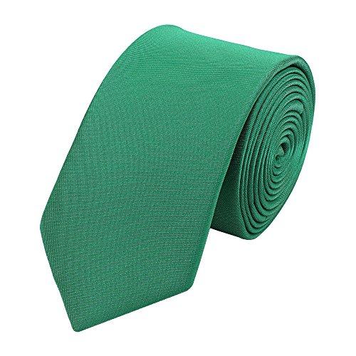 Fabio Farini - Cravate unie élégante en différentes couleurs au choix vert-turquoise 8 cm