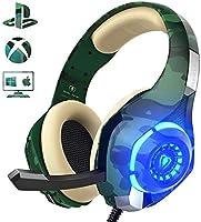 Auriculares Gaming para PS4 Xbox One Nintendo Switch, GM-100 Cascos Gaming con Sonido Envolvente y Reducción de Ruido....