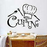 mlpnko Etiquetas engomadas de la Pared de la Cocina del Cocinero Etiquetas engomadas de la Pared Etiqueta Decorativa del café para Las Etiquetas engomadas del Vinilo del Comedor de la Cocina, 57x75cm