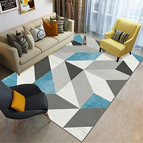 La Alfombra Room Decor Diseño geométrico Azul Gris Negro Sucio y soñoliento con Alfombra para desvanecimiento alfombras pasilleras Alfombra Pelo Corto 60*160CM